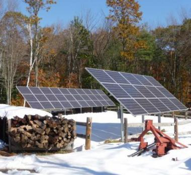 Two Solar Panels in the snow